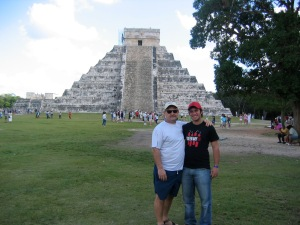 Dave with our former student Renan at Chichen Itza