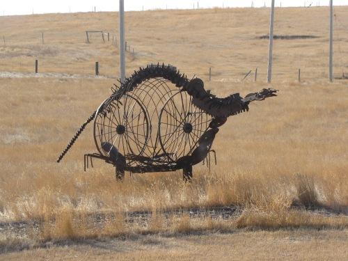 Plesiosaur Sculpture at Ancient Echoes