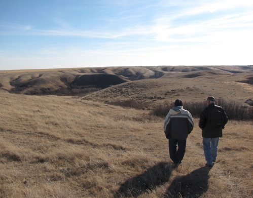 walking to a buffalo jump