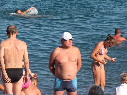 bathers in yalta