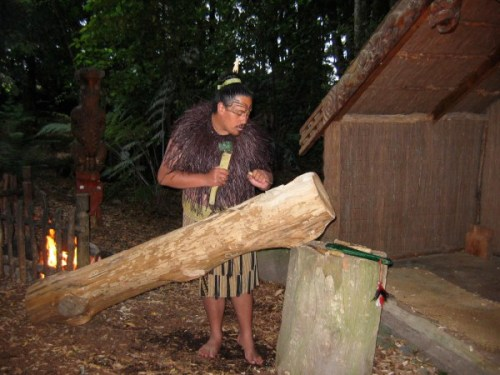 We watched this Maori carver at work in New Zealand