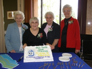 Selma Loewen, Sara Stoesz, Susan Giesbrecht, and Linie Friesen started the shop in 1972 in Altona to raise funds for MCC's work overseas.