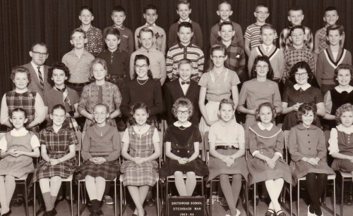 My Grade Five Class in 1963 with our teacher Mr. Klassen. I am second from the left in the second row.