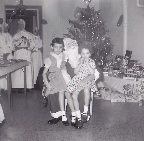 sitting on Santa's knee 1959