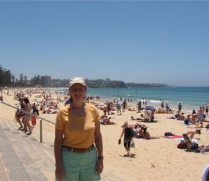 On the beach in Sydney for Christmas