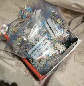 jigsaw puzzles packed up