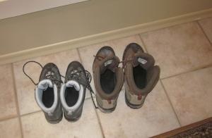 boots by the door