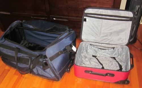 empty suitcases