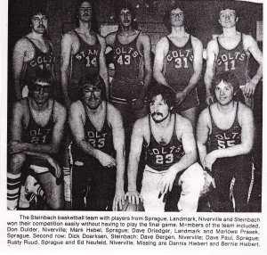 steinbach men's basketball team 1978
