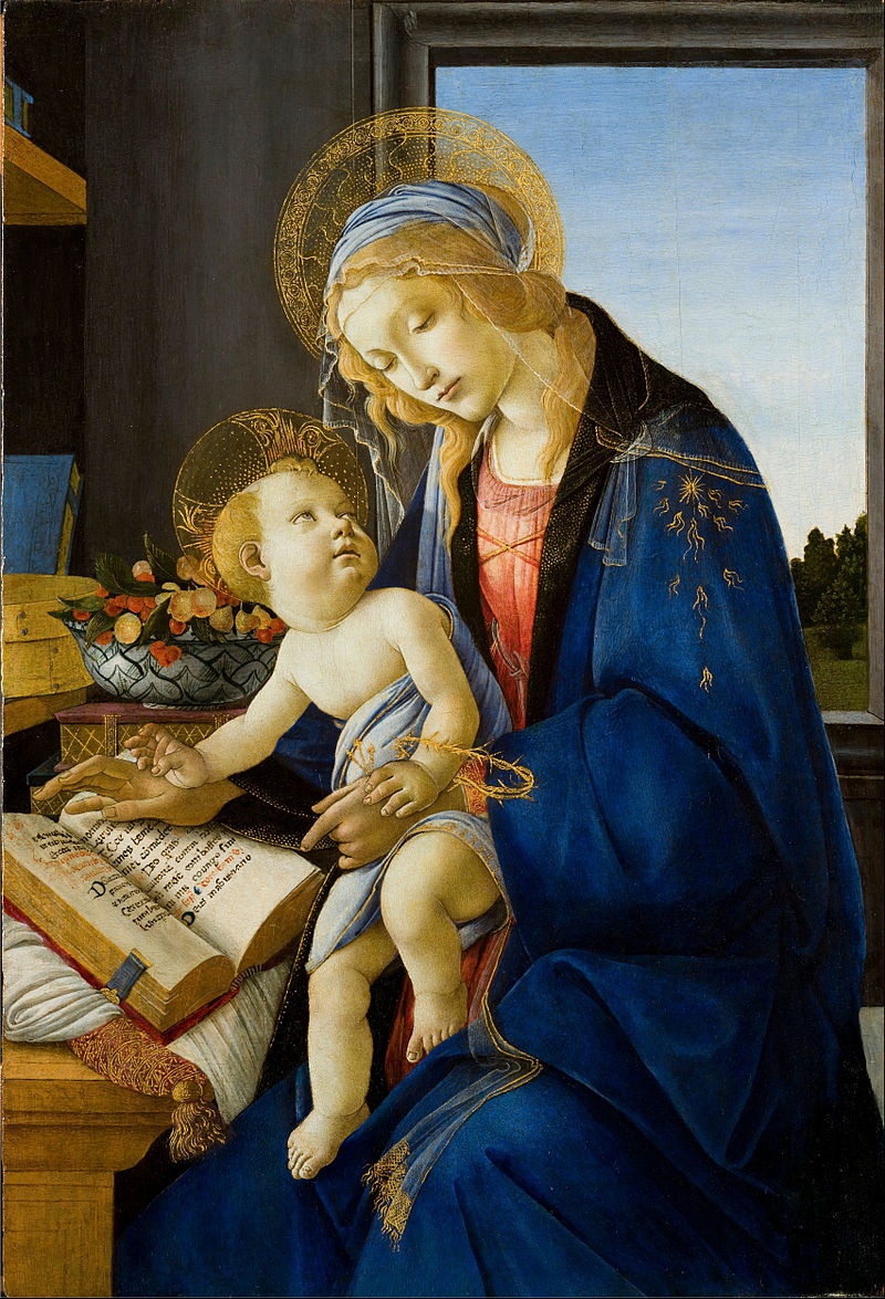 public domain The Madonna of the Book by Botticelli 1480
