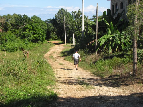 dave walking down the road runaway bay