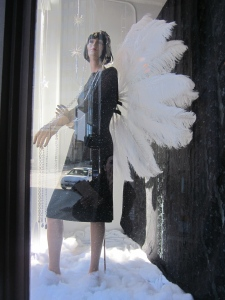 mannequin with angel wings asheville north carolina