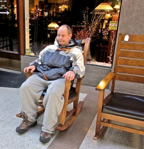 dave in rocking chair asheville north carolina