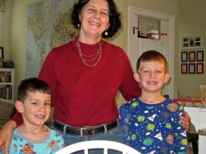 marylou with herzog boys