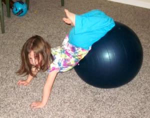 taylor on exercise ball