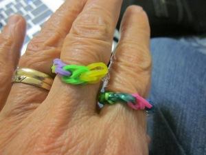 rainbow loom rings