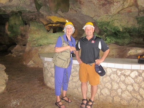 hairnets and helmets green grotto caves