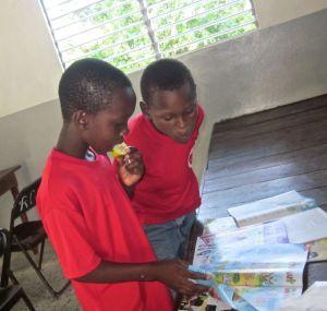 boys looking at magazines