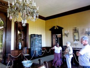 Touring the sitting room at Rose Hall