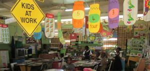 cheerful classroom