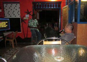 dave singing karaoke