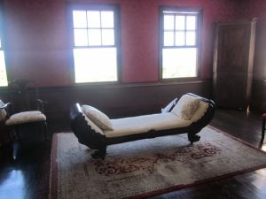 Day bed where Annie may have entertained her lover Robert