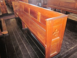 original 300 year pews st. Peter's anglican church jamaica