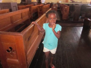 little girl st. peters' anglican church