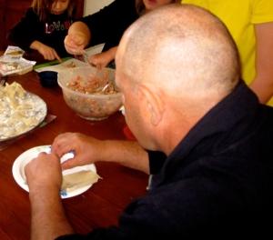 chinese  dumpling making