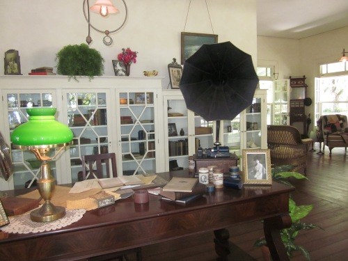 Phonograph in the library of the Edison home in Fort Meyers