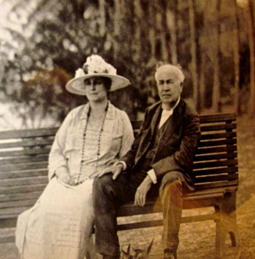 Mina and Thomas Edison in Florida