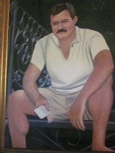 A portrait of Ernest Hemingway during the years he lived in Key West