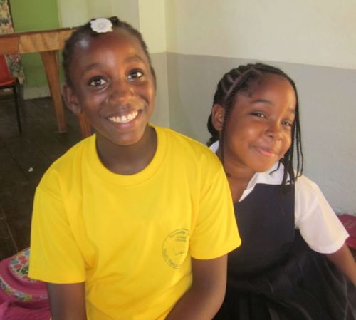 GIrls at a tutoring centre in Jamaica