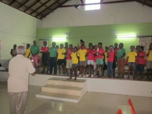 kids at resource centre sing to us