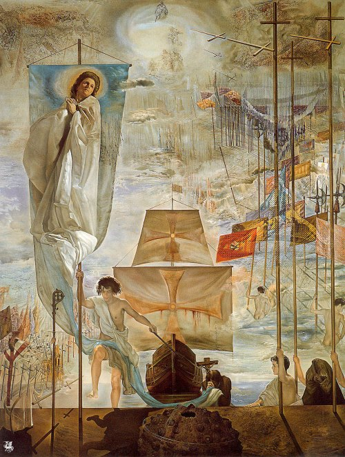 The Discovery of America by Christopher Columbus- Salvador Dali-1959