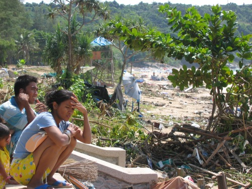 Photo I took of a Thai family on the beach after the tsunami