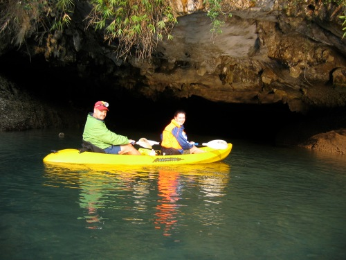 kayaking in Halong Bay Vietnam