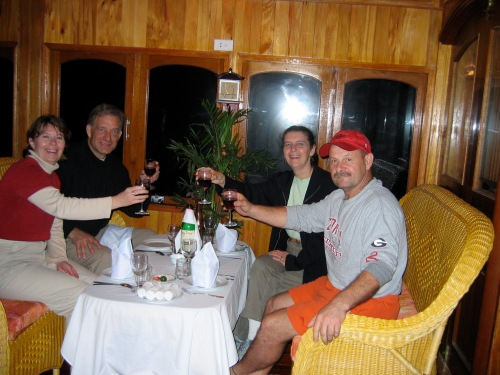 dinner on board boat in Halong Bay