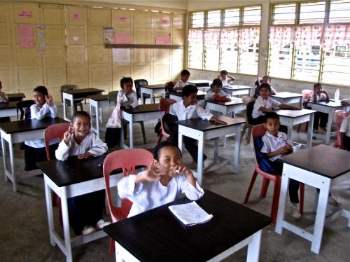 Sanih's grade two class