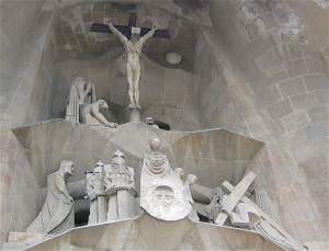 Jesus on the Cross- Sagrada Familia