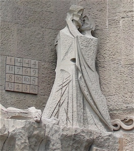 Judas kissing Jesus- Sagrada Familia