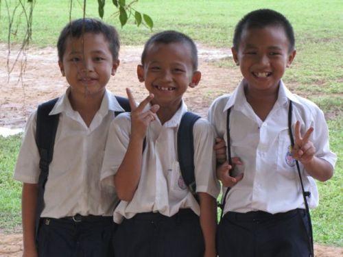 School boys in Boreno