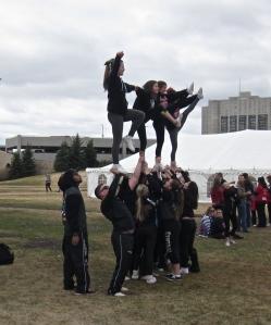 gymnasts at winnipeg ms walk