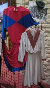 Old Treble Teens uniforms on display at the concert