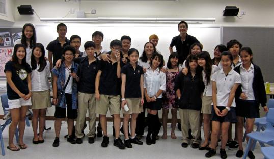 My highschool journalism class in Hong Kong