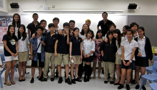 My highschool journalism class in Hong Kong