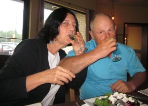 couple wine tasting