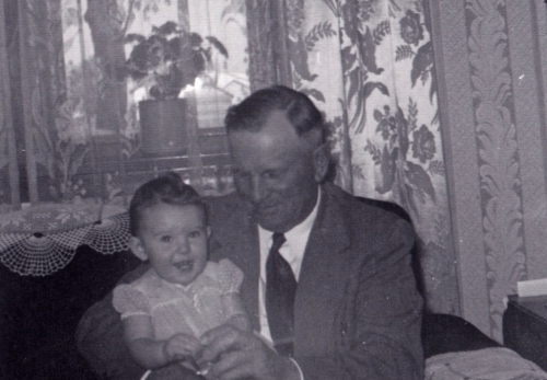 Me and my smiling Grandpa Schmidt
