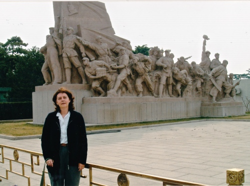 My husband Dave took this picture of me in Tiananmen Square in Beijing outside the tomb of Mao Zedong. It is believed his Cultural Revolution resulted in the deaths of some 30 million people.