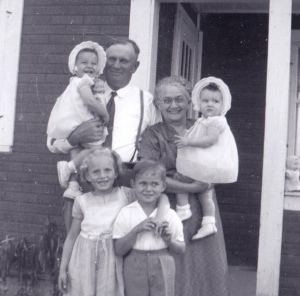 My grandparents with the first four of their twelve grandchildren